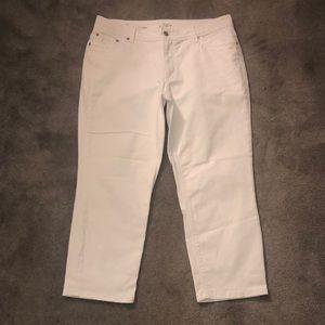 LOFT white denim pants